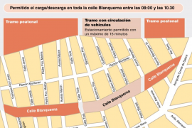 Cort propone que los coches circulen por Blanquerna entre Antoni Marquès y Ticià