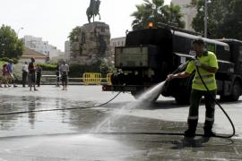 Desalojo de la Plaza de España