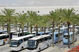 PALMA bota autobusos a l'aeroport