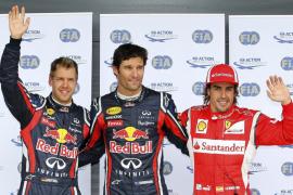 Webber consigue la 'pole' en Silvertone; Alonso, saldrá tercero