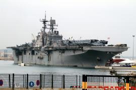 La Sexta Flota vuelve a Palma con discreción y grandes unidades navales