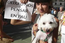 """Manifestación de los """"indignados"""" de Palma."""