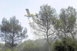 Controlado un nuevo incendio forestal junto a la carretera de Palma a Puigpunyent