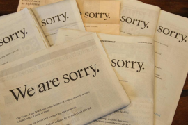 «We are sorry»