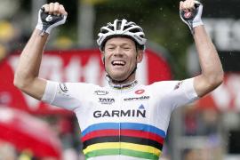 Hushovd gana etapa en la que Evans y Contador sorprenden a los Schleck