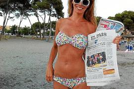 Paula Vázquez posa con Ultima Hora para acusar a 'In Touch' de manipular sus fotos