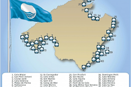 Las playas de Mallorca lucen 42 banderas azules