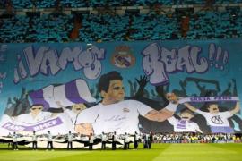 Rafa Nadal, protagonista del mosaico en el Bernabéu
