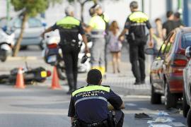 En estado muy grave un motorista de 16 años que se accidentó en s'Arenal
