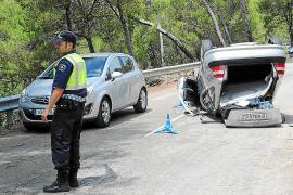 Cinco heridos al volcar dos vehículos en Sant Elm y en el Passeig Marítim de Palma
