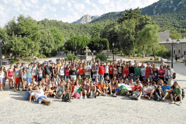 Unos 300 jóvenes visitan Lluc