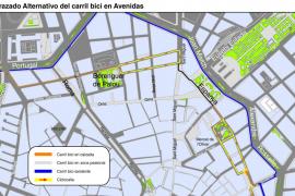 Trazado alternativo al carril bici construido en la legislatura de Aina Calvo