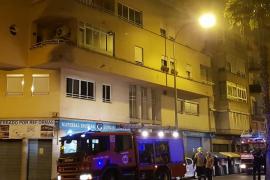 Incendio en un piso de General Riera