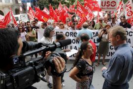 Unos 300 sindicalistas se manifiestan en Palma contra la reforma constitucional
