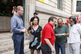 Concentración sindical en Palma contra la reforma de la Constitución