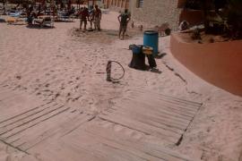 Inversió na deshora en la playa de Cala Major