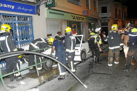Espectacular accidente en Palma