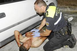 Detenido un hombre tras romper una botella y clavársela a otro en Palma