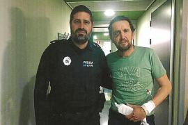 El policía local más 'Amable' salva la vida a un atleta francés en Calvià