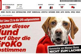 El diario alemán 'Bild' logra inscribir una perra como militante del SPD