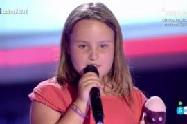 La pequeña Camila, de Palma, supera las audiciones a ciegas del programa 'La Voz Kids'