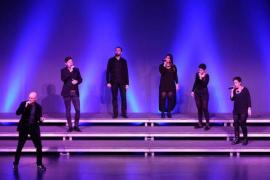 El grupo a capella O'Veus, en el Teatre de Lloseta