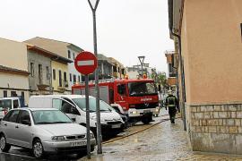 Graves inundaciones en Es Blanquer de Inca durante unas obras municipales