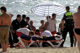 Un hombre de 65 años muere ahogado en la Platja de Palma