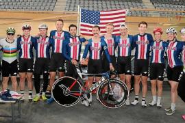 El equipo estadounidense de ciclismo en pista se prepara en Palma