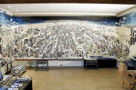 Palma es la protagonista del cuadro de 10 metros pintado por Sally Anne