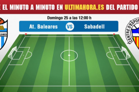 Atlético Baleares-Sabadell, en directo