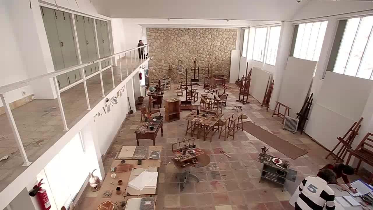 Se vacía por primera vez el Taller Sert de la Fundación Miró para su reforma