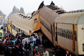 Al menos 15 muertos y 40 heridos en un accidente de tren en Egipto