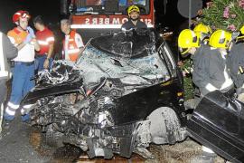Fallece un hombre de 33 años al empotrar su coche contra un camión en la autopista de Inca