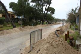 Los vecinos de sa Caseta des Capellans renuevan su red de agua sin permiso legal