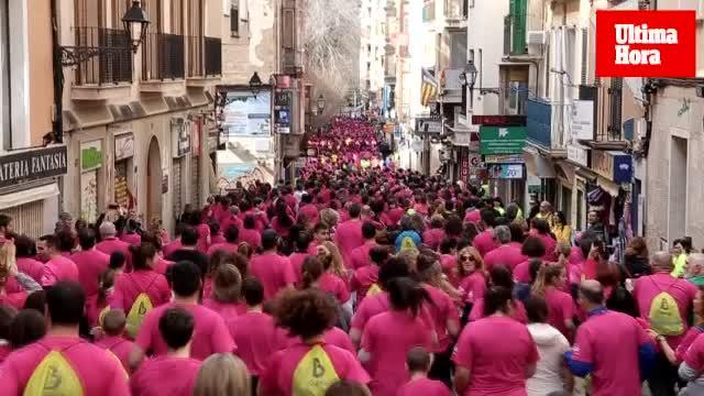 Más de 4.000 personas participan en la III Cursa Popular PalmaDona