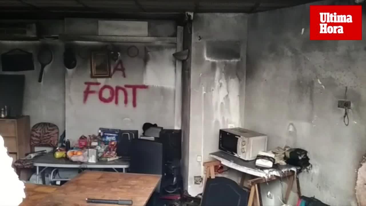 Desalojan un edificio por un incendio en una antigua oficina bancaria