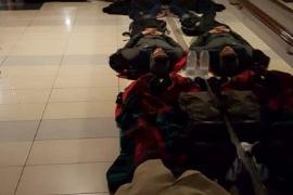 Decenas de pasajeros del barco Barcelona-Palma tuvieron que dormir en el suelo
