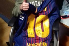 El bonito gesto de Messi con un niño enfermo de cáncer