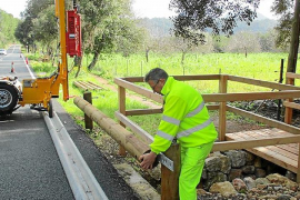 Avances en la recuperación de la carretera vieja de Lluc