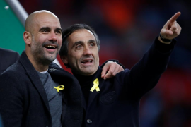 Cuixart agradece a Guardiola que lleve el lazo amarillo