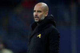 Guardiola, sancionado con 22.500 euros por lucir el lazo amarillo