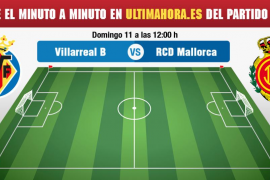 Villarreal B-Real Mallorca, en directo