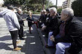 Los jubilados se coordinan para la concentración de este sábado en el Parque de la Paz