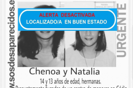 Las dos hermanas menores desaparecidas regresan de la mano de un familiar