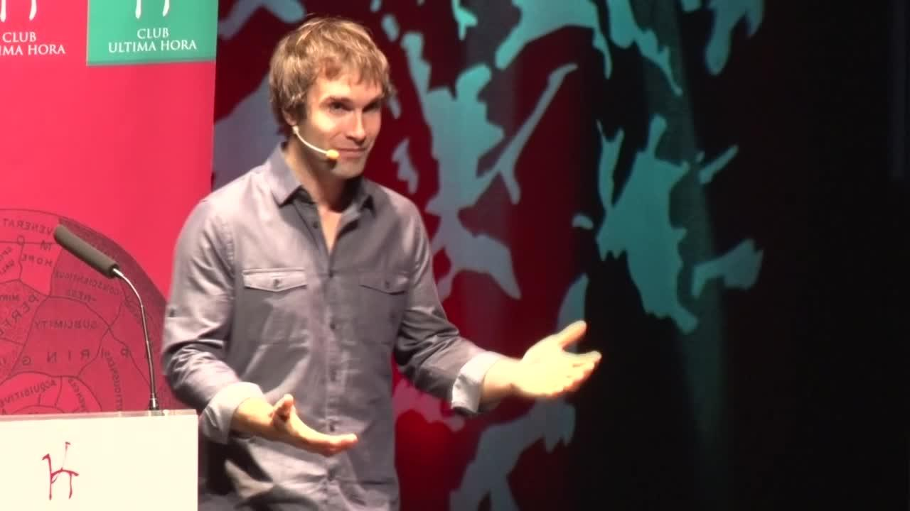 Chris Sharma, en la conferencia del Club Ultima Hora: «Mallorca es única»