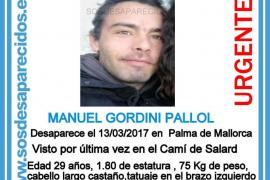 Buscan a Manuel Gordini, un joven de 29 años desaparecido en Palma