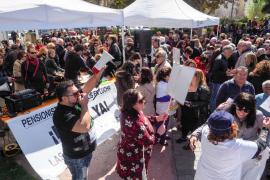 Manifestación en Ibiza por la mejora de las pensiones (Fotos: M. Sastre)