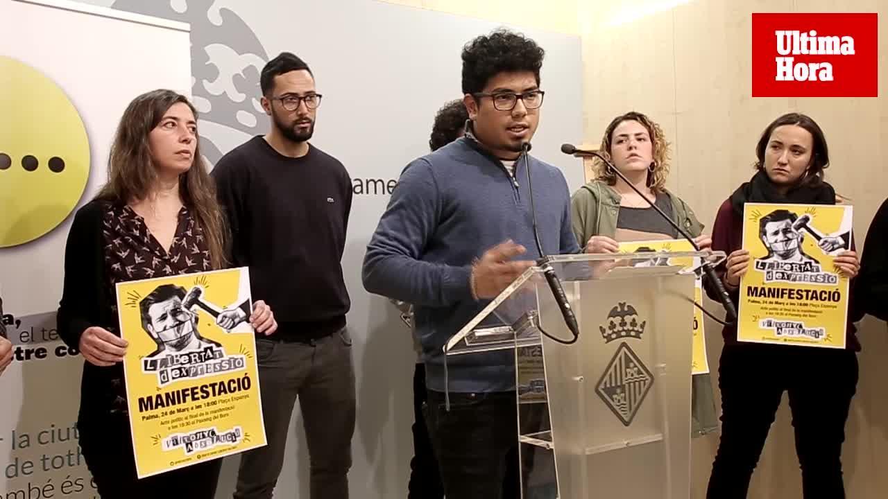 El Ayuntamiento de Palma escenifica su apoyo a Valtonyc