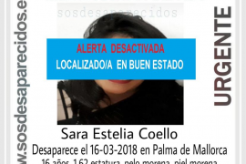Encontrada en buen estado la menor desaparecida en Palma